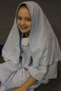 Middle School students explore their dramatic sides at the Christmas Play.