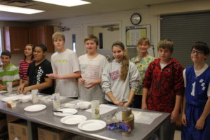 Students love to sample their creations from cooking club.