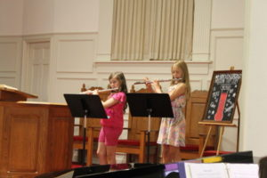 Private music students practice all year for the annual recital held in the Spring.