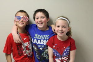 One of Spirit Days is Patriotic Day! God bless America!